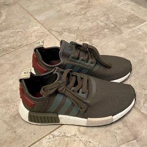 Adidas NMD Olive Maroon Sneakers